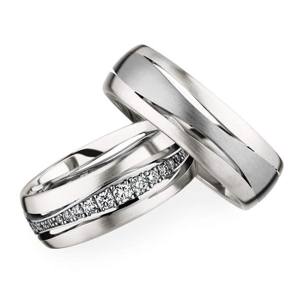 "Platinum and ""Grey"" gold wedding bands! 274214 / 246845"