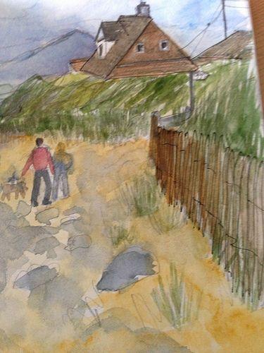 Llandanwg beach, Harlech by Mary Hartley