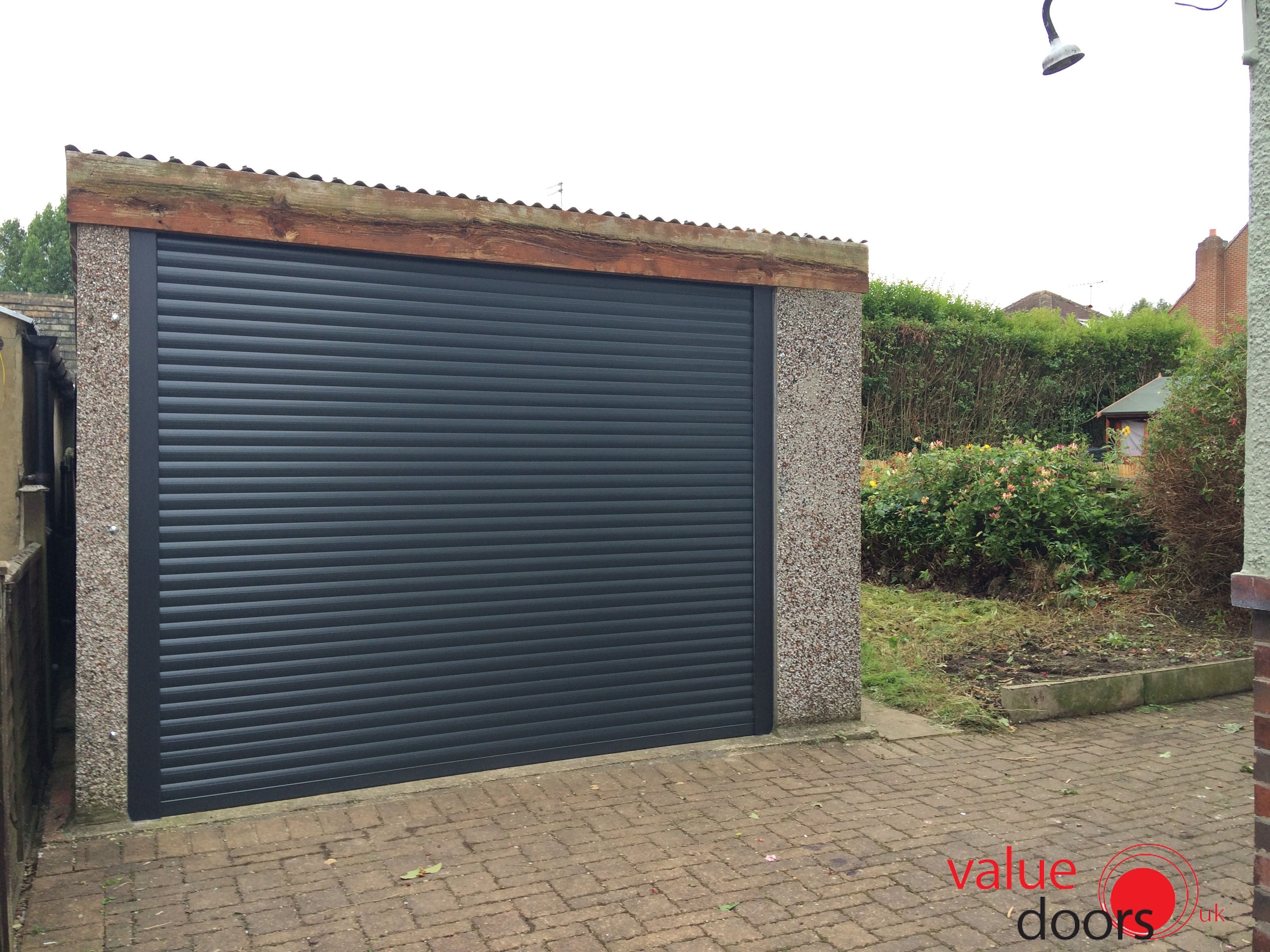 Our Roller Shutter Garage Door In Anthracite Grey Garage Doors Garage Door Styles Garage Door Design