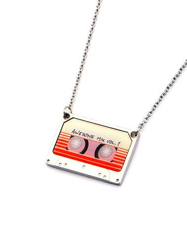 This Guardians of the Galaxy Awesome Mix Vol. 1 Tape Pendant Necklace is…