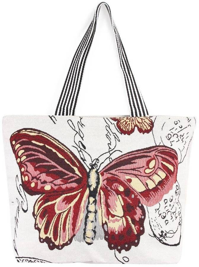 e055e93dd1 Riah Fashion Butterfly Print Tote  ad