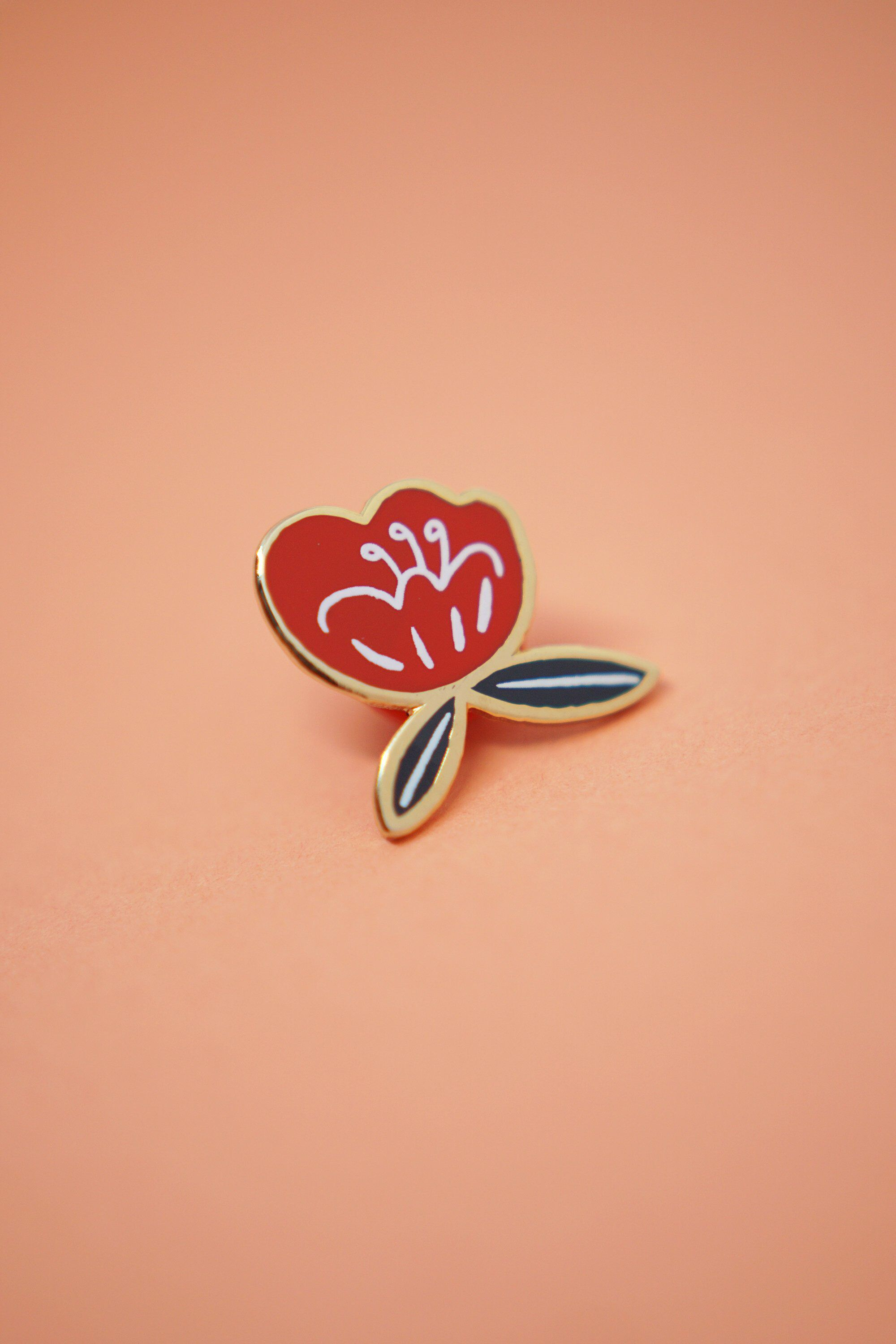 Poppy Flower Enamel Pin By Justinegilbuena On Etsy Patches N Pins