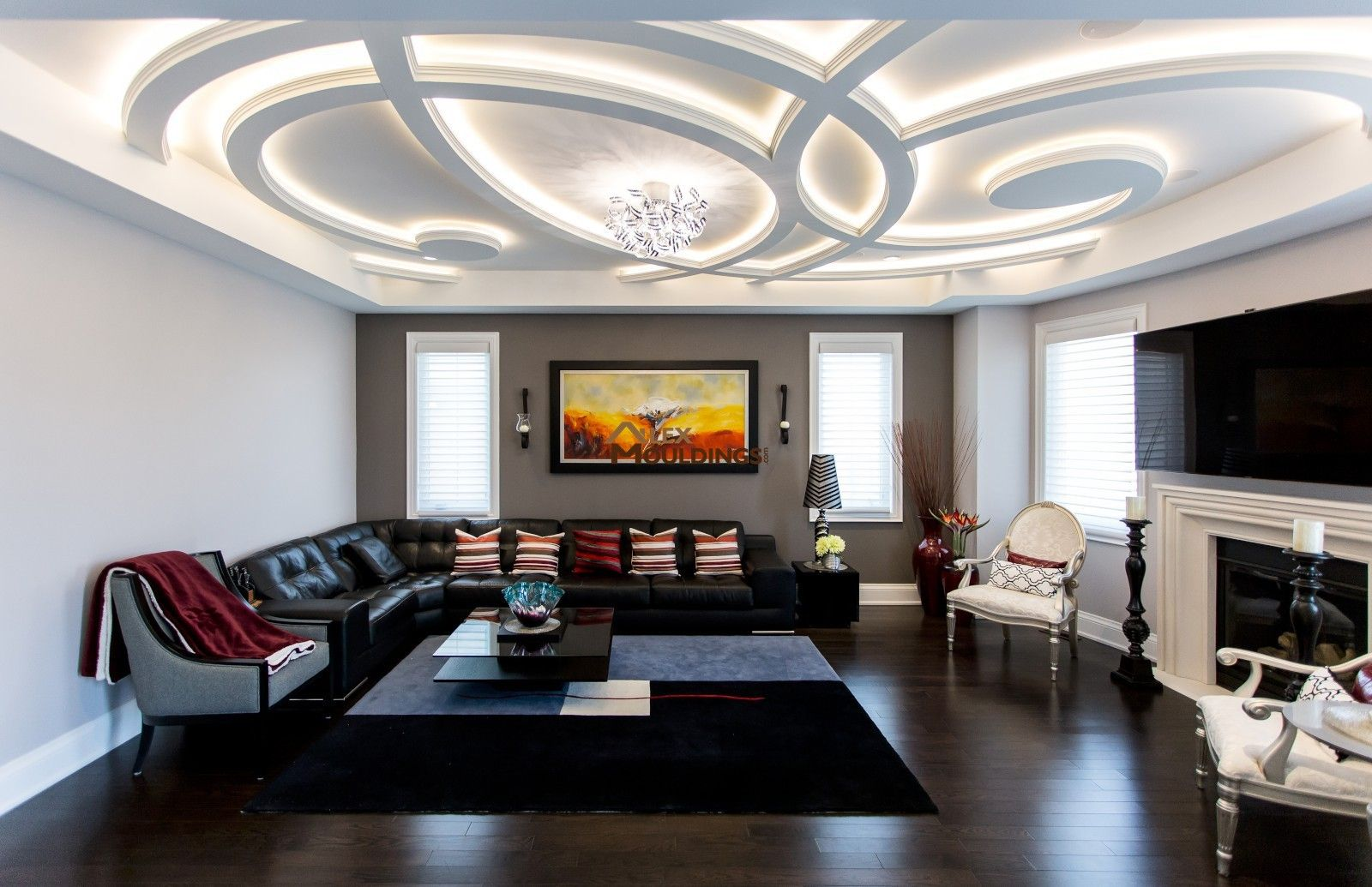 Unique Ceiling Idea For The Living Room With Images Ceiling