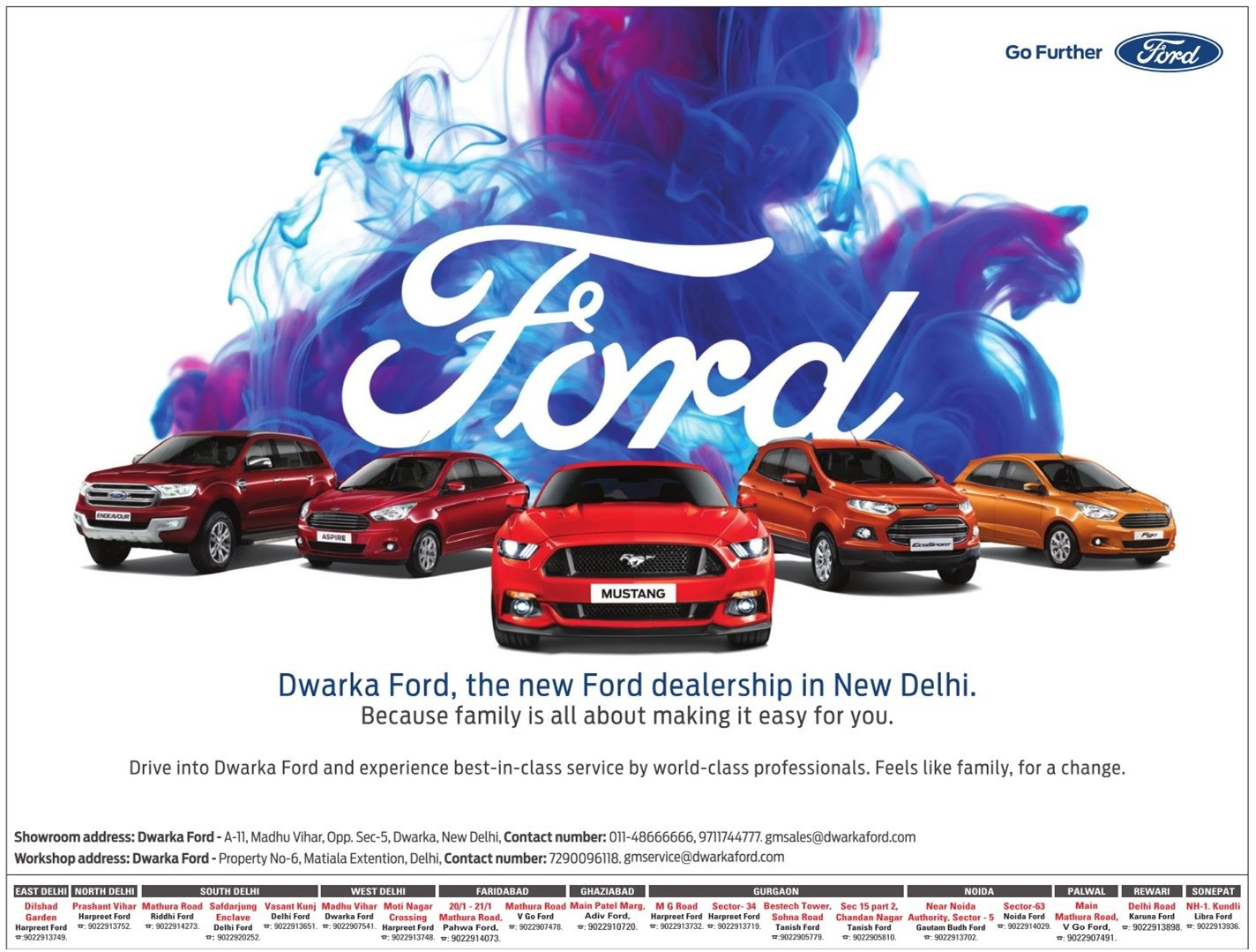 Ford Dwarka Ford The New Ford Dealership In New Delhi Ad Times Of
