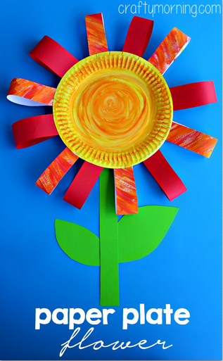 Paper Plate Flower Craft Perfect For A Rainy Day Craftymorning0