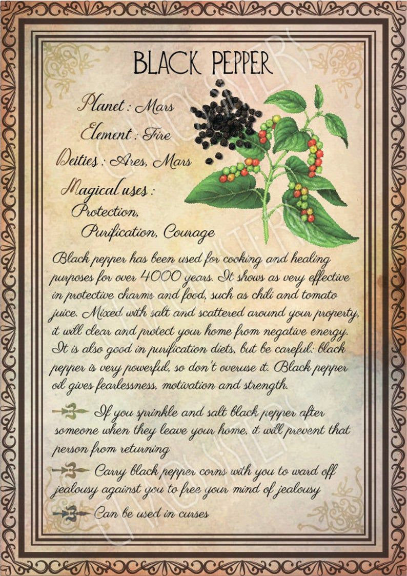 Printable Herbs Book of Shadows Pages Set 3, Herbs & Plants Correspondence, Grimoire Pages, Witchcraft, Wicca, Printable BOS