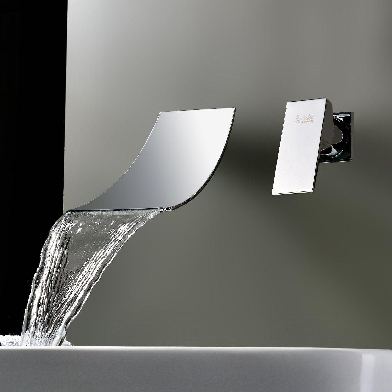 Sprinkle Wasserfall Verbreiteten Zeitgenössischen Waschbecken