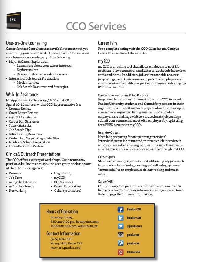 Purdue Cco Services Resumes Examples Resume Cv