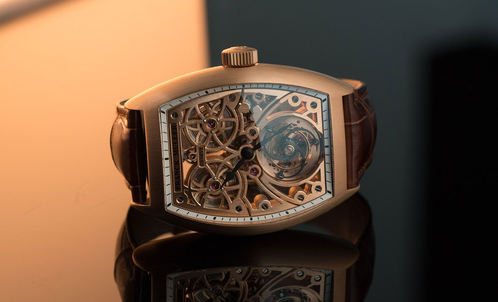Silent night, holy night, all is calm, apart from the reassuring tick of yourFranck Muller Thunderbolt Tourbillon. And let's not for a minute - or five seconds to be more accurate - mistake the forest forthe Christmas trees here, the real star inside this gold curvex caseis the tourbillon. W...