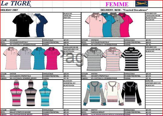 Line sheet | Fashion Tech Packs and Flats | Pinterest