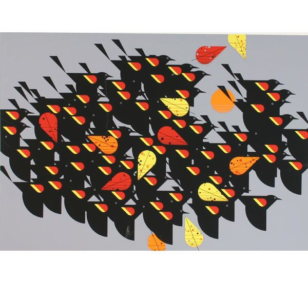 A Flock Of birds by Charley Harper