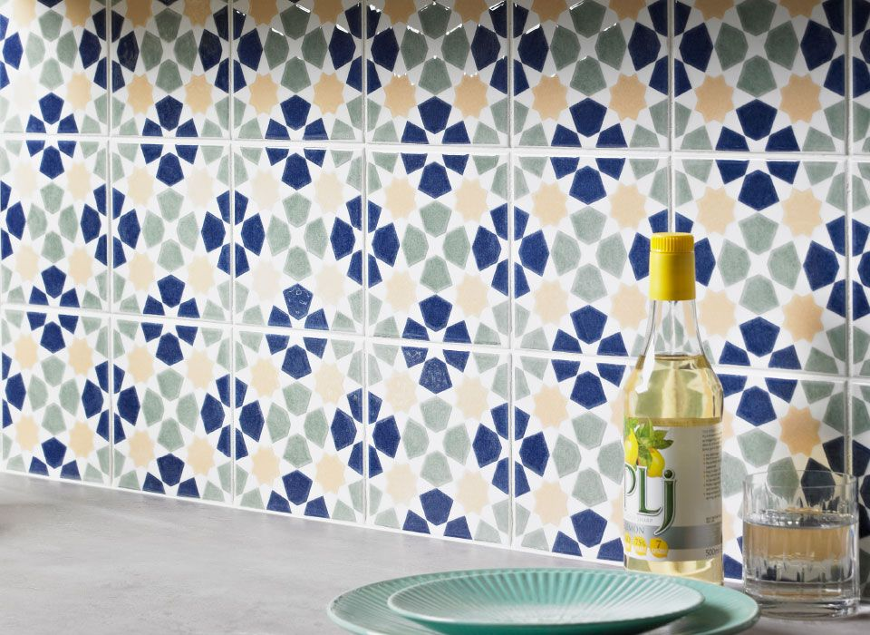 VA OmarMina Decor Tile tile from House of British Ceramic Tile
