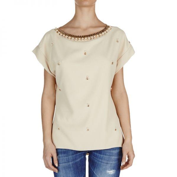 T-Shirt Neil Champagne.  http://shop.mangano.com/it/donna/17339-t-shirt-neil-offwhite.html