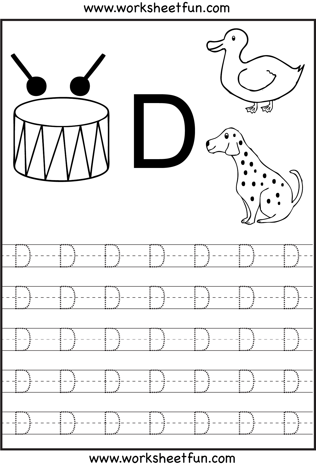 Letter+D+Tracing+Worksheets | Activities | Pinterest | Schule