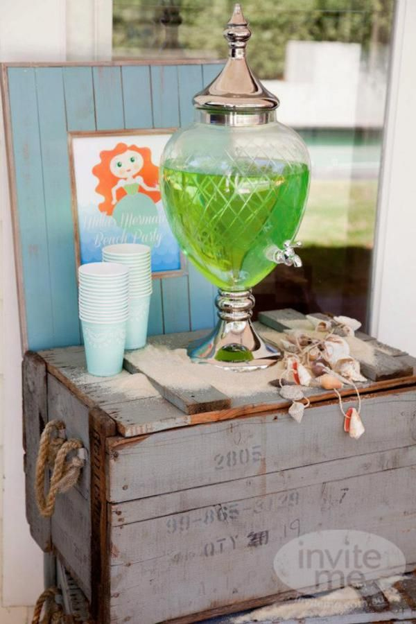 Mermaid Theme: The Drink Station