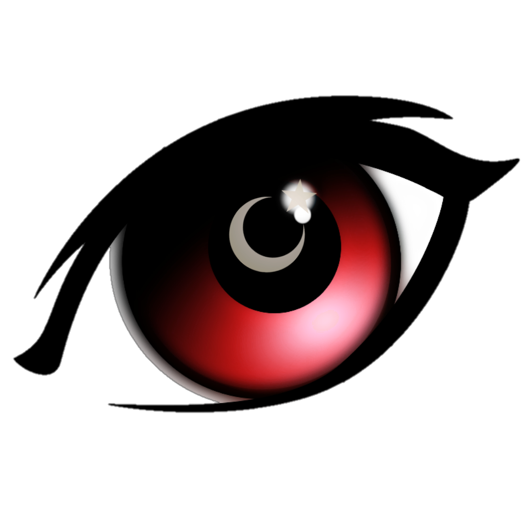 PNG red eye PNG Eye anime cartoon logo LinkPicture