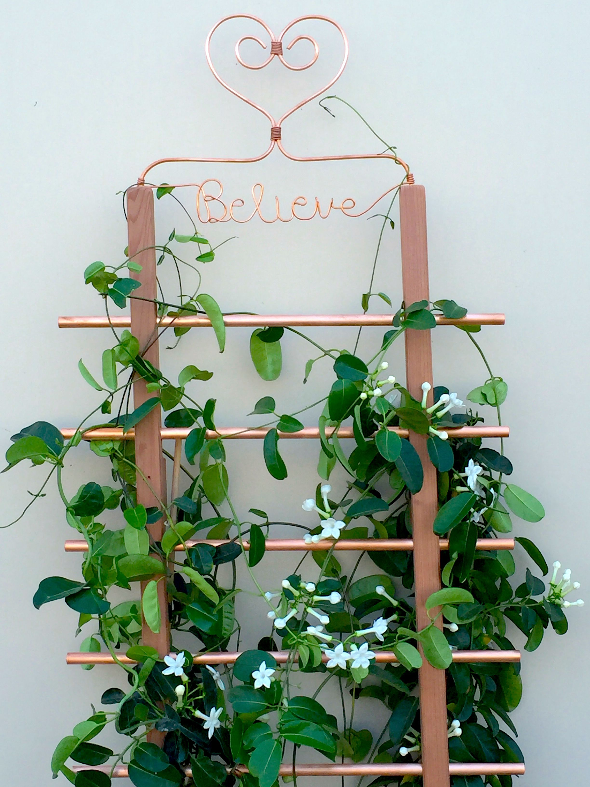 DIY Copper and Redwood Trellis The Home Depot munity