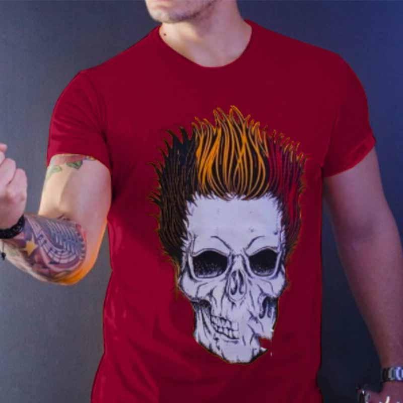 Fxbar,Mens Autumn Round Top Blouse Long-Sleeve T-Shirt Stripe