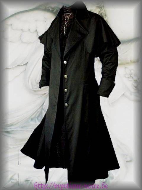 kutschermantel lucius viktorianisch schwarz gothic. Black Bedroom Furniture Sets. Home Design Ideas