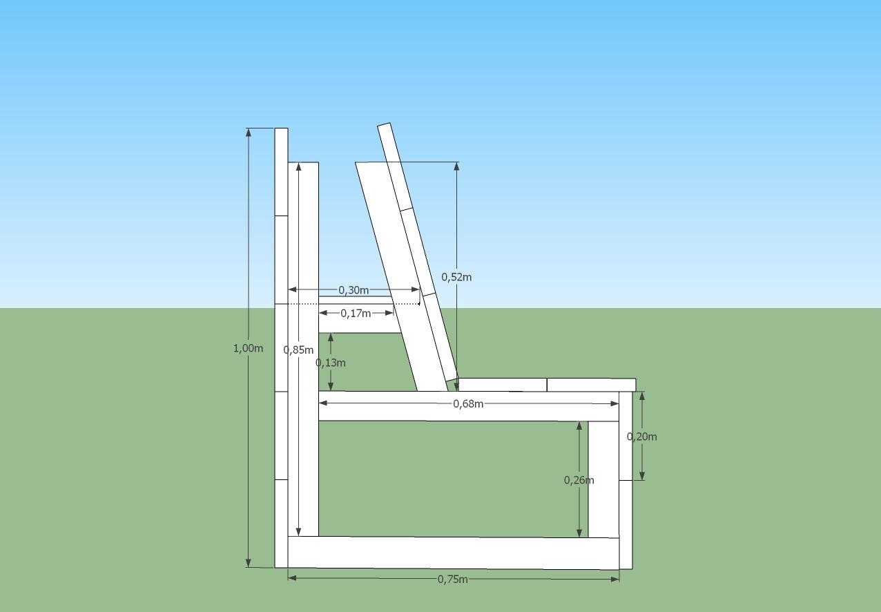 Werktekening loungebank | Tuin | Pinterest | Bench, Construction and ...