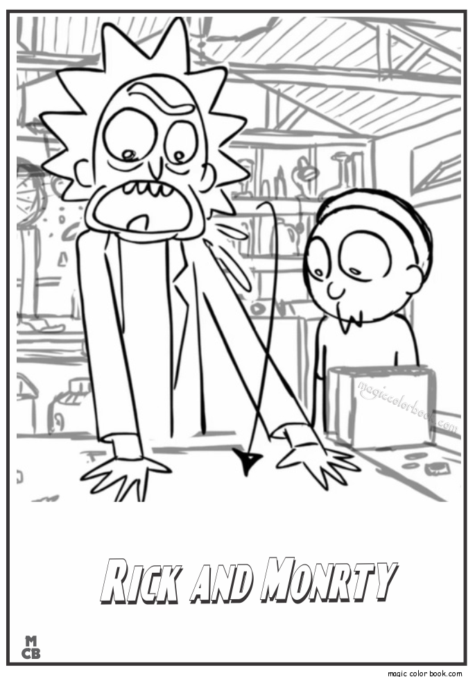 Rick And Morty Free Coloring Pages By