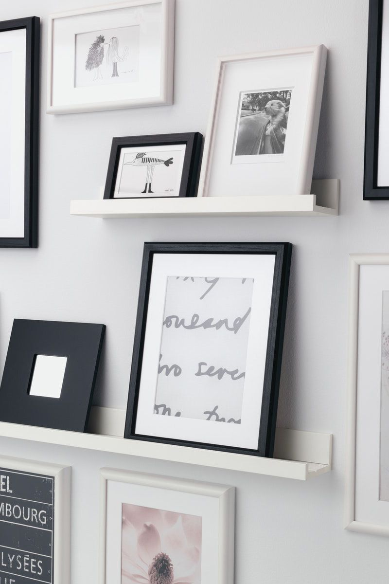 Mosslanda Bilderleiste Weiss Ikea Deutschland Wand Dekorieren