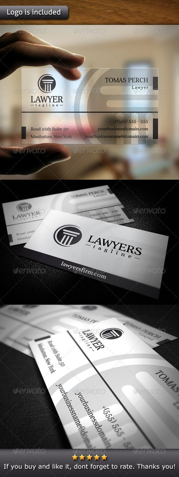 Law Firm Logo Business Card | Law firm logo, Corporate business and ...