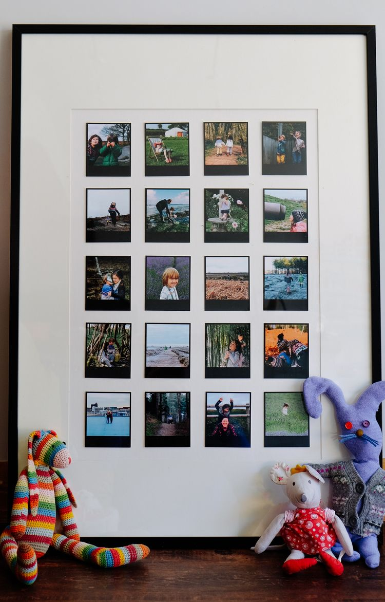 Modern polaroid style photo frame picture collection picture frame black polaroid style prints from square snaps interior negle Choice Image
