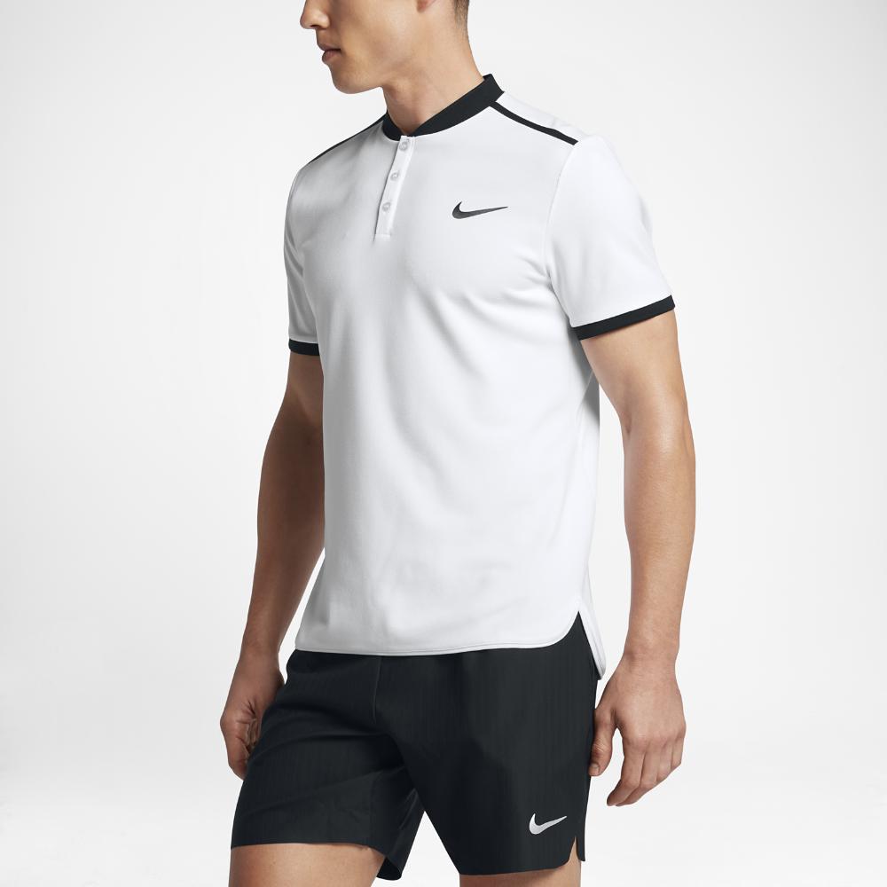 888c22849157 Nike NikeCourt Advantage Men s Tennis Polo Shirt Size Medium (White ...