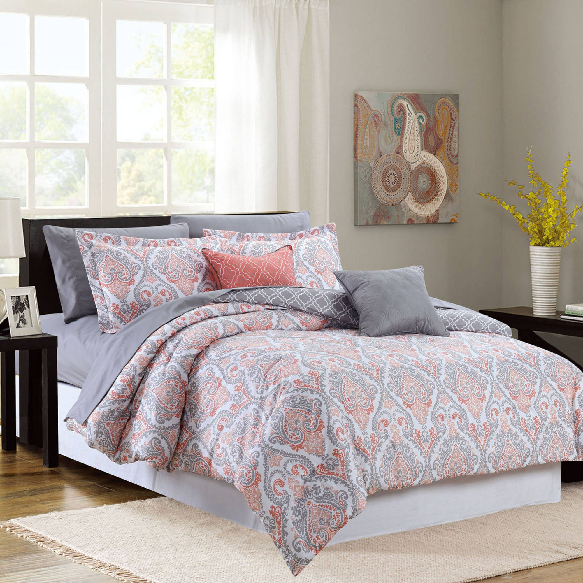 Anastasia 9Piece Printed Oversized Bed in a Bag Walmart