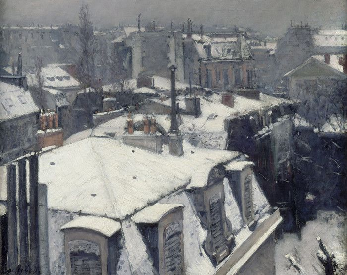 Rooftops in the Snow by Gustave Caillebotte | Art Posters