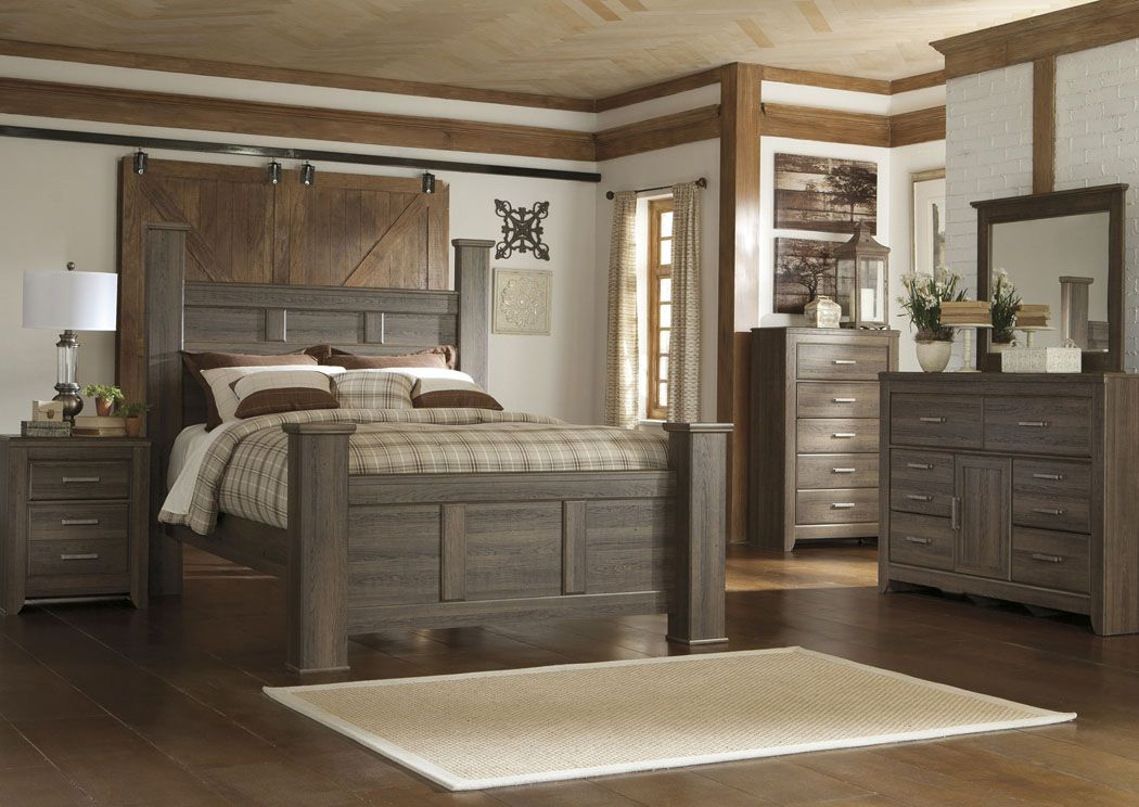 Bedroom Solid Wood Sleigh Bedroom Set Gray From Mc Furniture Store