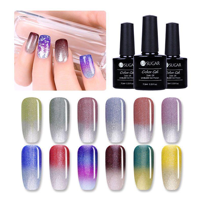 UR SUGAR 7.5ml Vernis à Ongles Gels UV Nude Glitter Nail