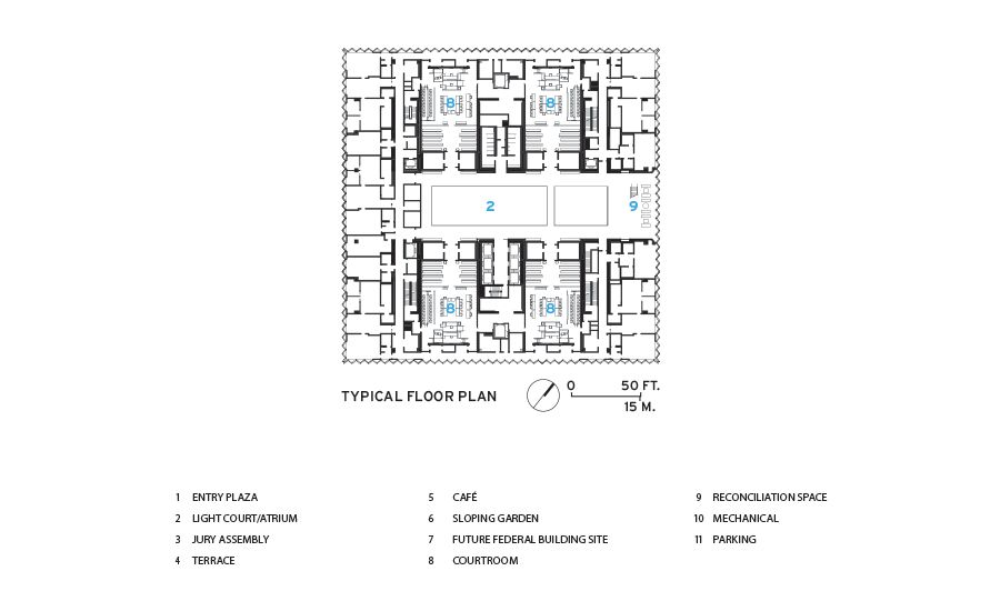 United States Courthouse Los Angeles By Som Floor Plans Los Angeles Courthouse Courthouse