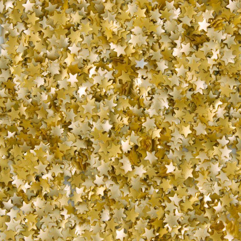 GOLD STARS EDIBLE ACCENTS | Wilton Edible Glitter Gold Yellow Stars, 0.4 oz