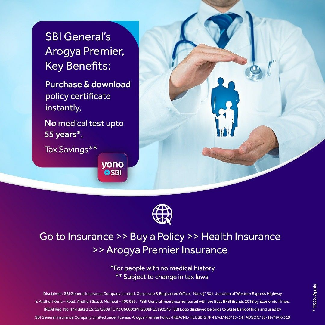 Insure your health easily on YONOSBI with SBI General's