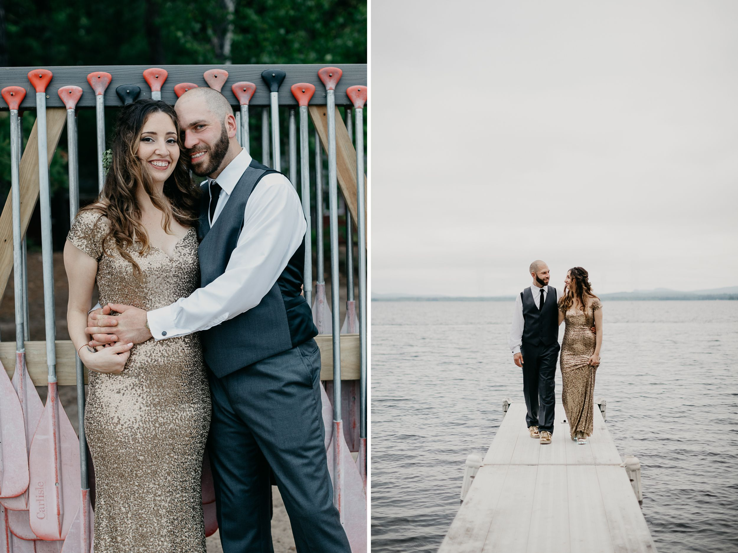 Becca + Adam\'s Camp Calumet Wedding on Ossipee Lake in New Hampshire ...