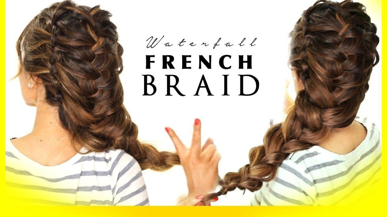 ☆ WATERFALL Braided ELSA BRAID | Wedding Updo Hairstyles {wish I ...