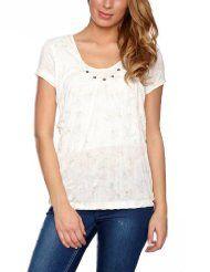 edc by ESPRIT Damen T-Shirt Regular Fit, 032CC1K046