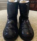 EUC UGG Australia Girls Black Sequin Boots. Size 2 #GirlsShoes #uggbootsoutfitblackgirl EUC UGG Australia Girls Black Sequin Boots. Size 2 #GirlsShoes #uggbootsoutfitblackgirl