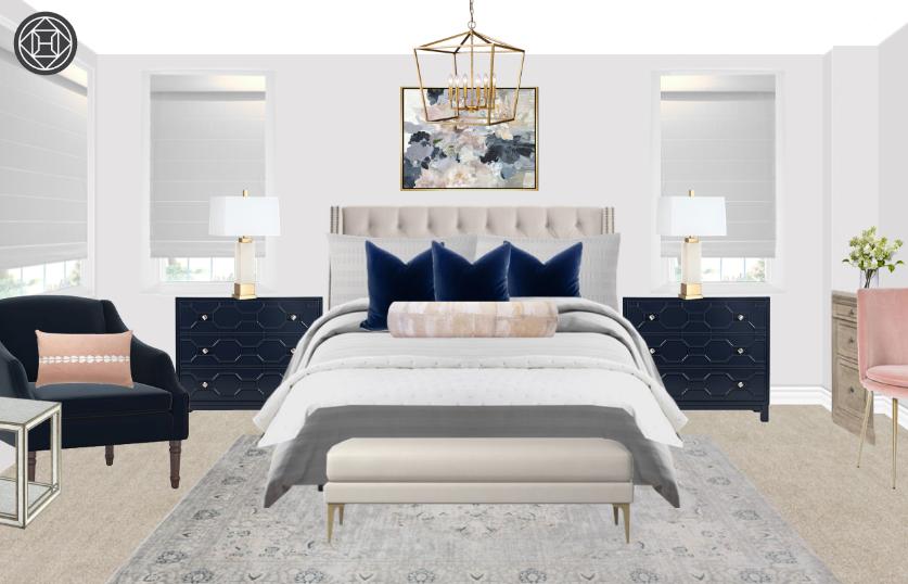 Preppy Bedroom Design By Havenly Interior Designer Amy Preppy
