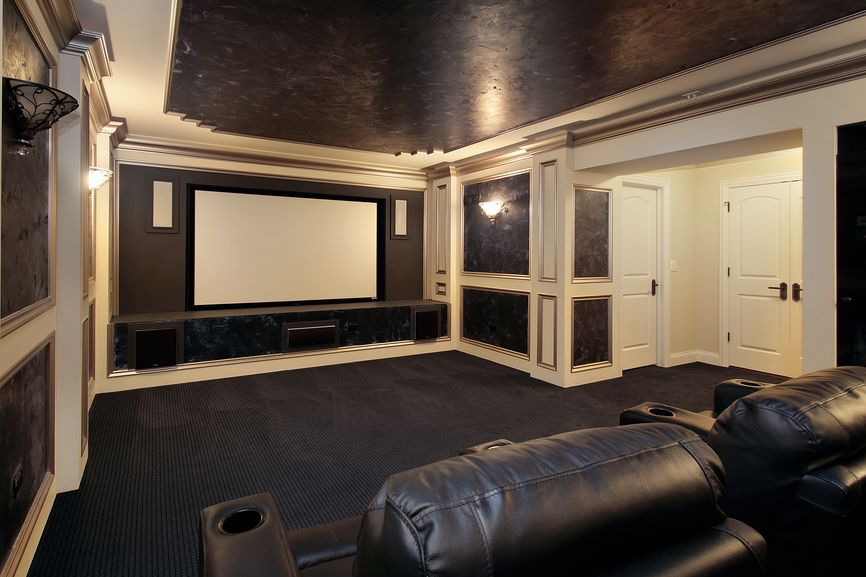 Theatre Room Design home theater and media room design ideas (photo gallery)