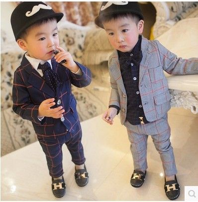 1 2 3 4 Years Old Boys Spring And Autumn 2015 The New Children S Suits Plaid Suit Baby Clothes Y189 Hi Mommy Al Kids Outfits Girls Kids Outfits Kids Suits