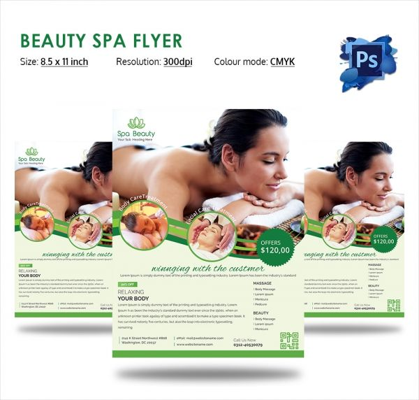 Natural Beauty Spa Flyer Design