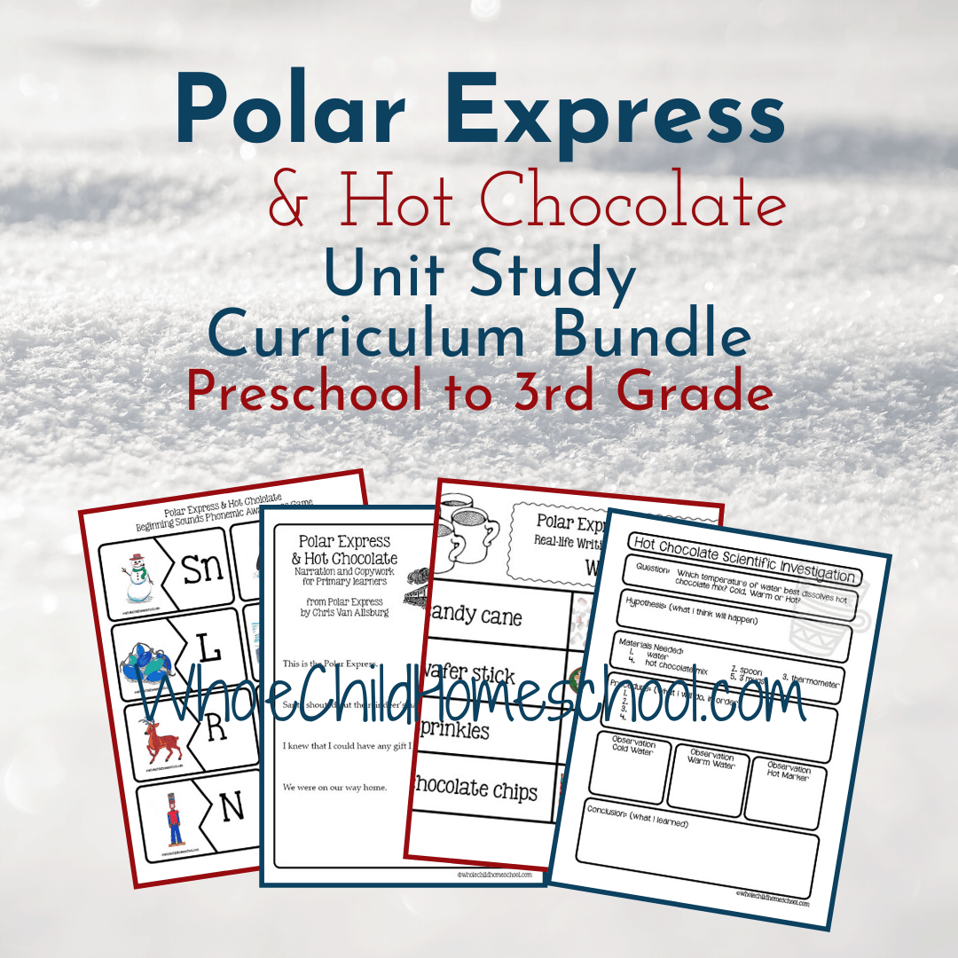 Polar Express Amp Hot Chocolate Primary Curriculum Bundle