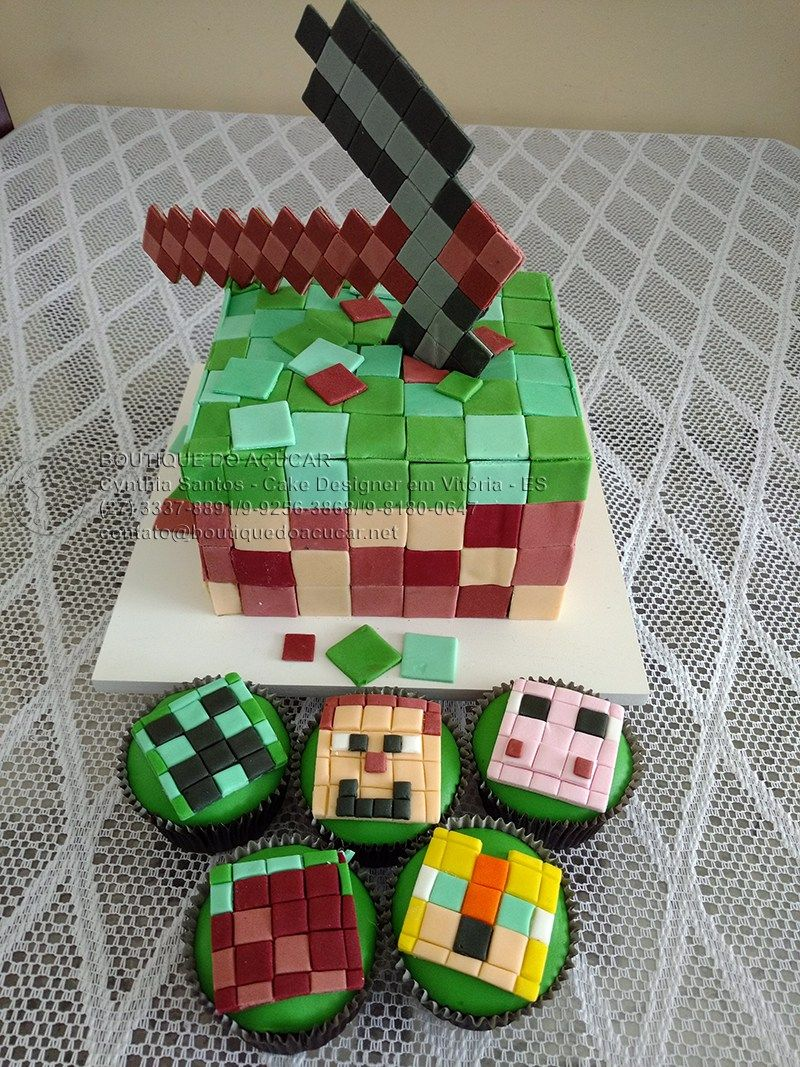Bolo-Decorado-Minecraft | Boutique do Açúcar | Pinterest