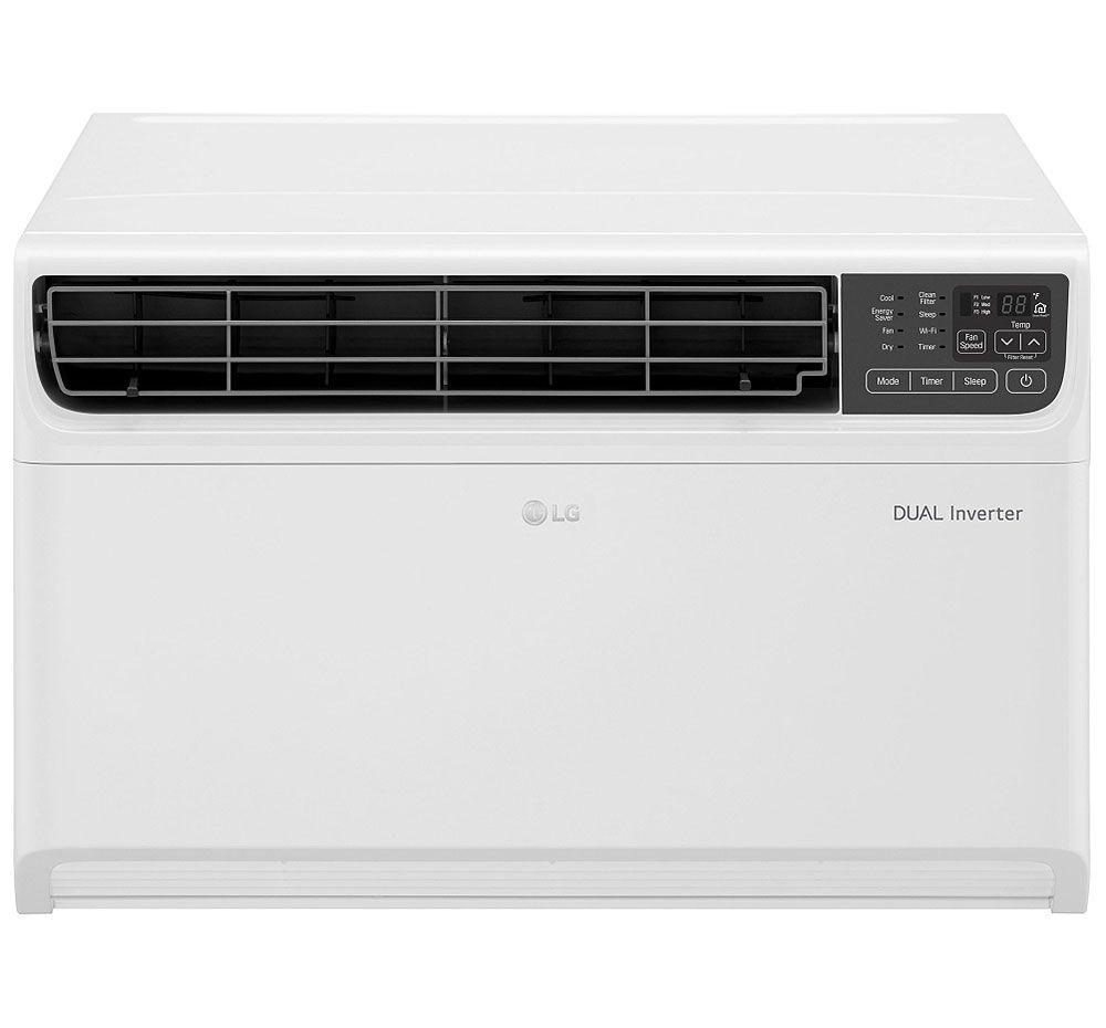 Lg 14 000 Btu Dual Inverter Smart Wi Fi Enabled Window Air Conditioner In 2020 Window Air Conditioner Windows Energy Efficiency