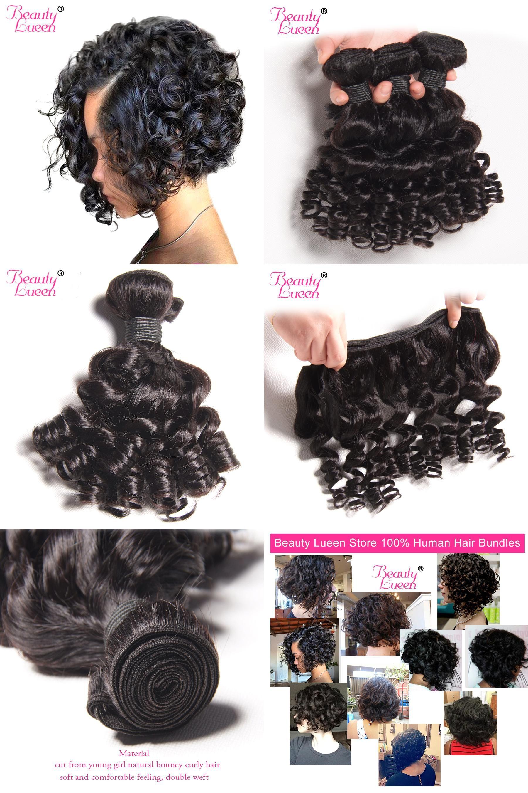 Visit To Buy Brazilian Hair Bundles Bouncy Curly Weave Human Hair Bundles Short Bob Style Brazilian Hair Weave Hair Bundles Extensions Brazilian Hair Bundles