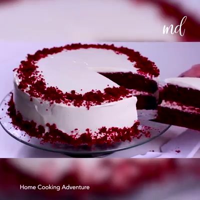 RED VELVET CAKE is part of Cake recipes - Indulge your sweet tooth with this red velvet cake💕 By Home Cooking Adventure