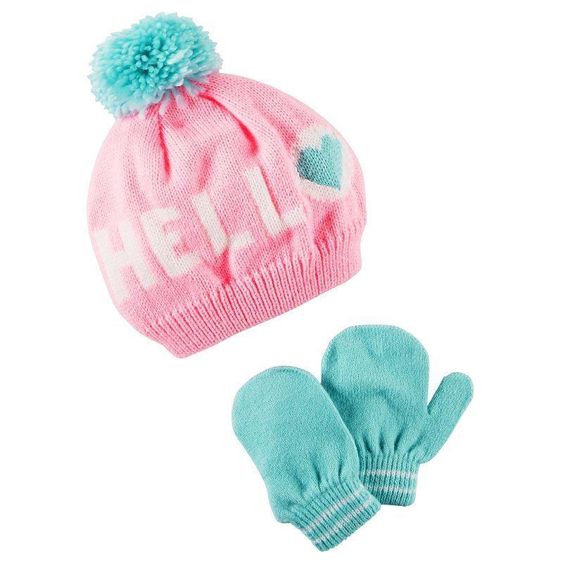 Carters Little Girls Mitten /& Glove Set 2T-4T
